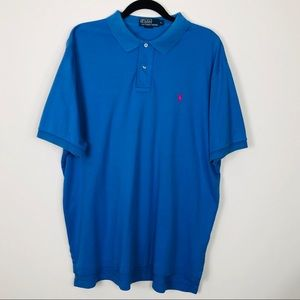 POLO Ralph Lauren Small Pony Blue Polo Size XL